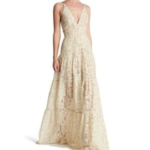 Melina Lace Fit & Flare Maxi -Dress the Population